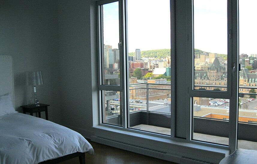 Chambre avec vue sur Montreal